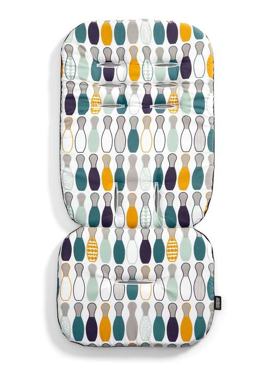 Luxury Memory Foam Pushchair Liner - Skittles image number 1