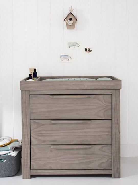 Franklin 3 Door Dresser & Changing Unit - Grey Wash image number 4