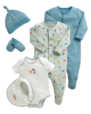 6 Piece Set - Blue