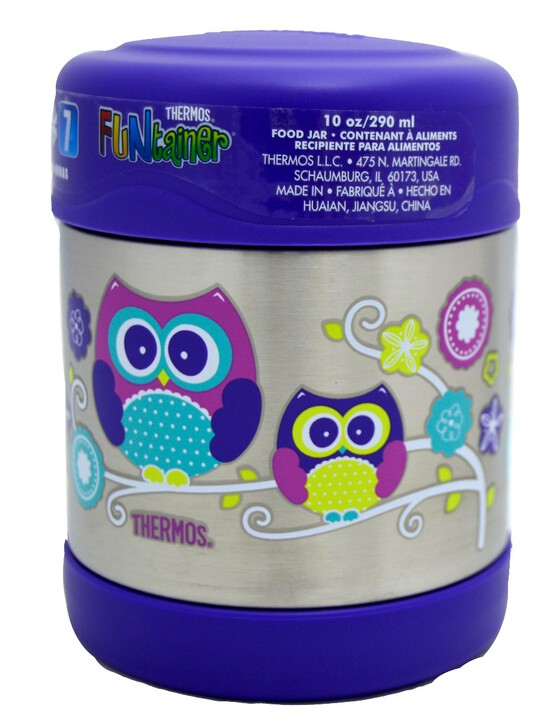 Thermosâ®- Funtainerâ® Stainless Steel Food Jar 290Ml- Owl image number 3