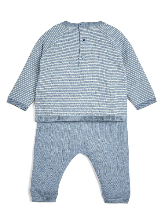 Blue Hello World Knitted Set - 2 Piece image number 2