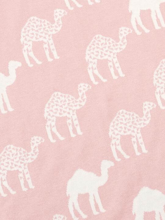 Knitted Blanket (70x90cm) - Pink Camel image number 4