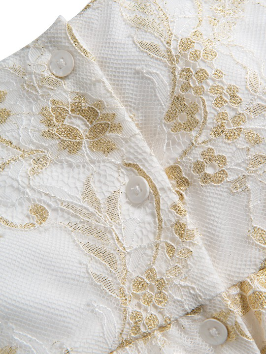 Lace Scalloped Hem Dress image number 4
