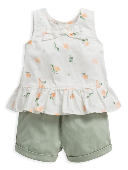 2 Piece Floral Print Top & Shorts Set image number 1