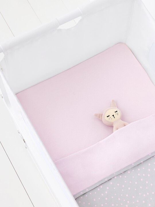 2 Pack Crib Fitted Sheets - Rose Spots image number 4