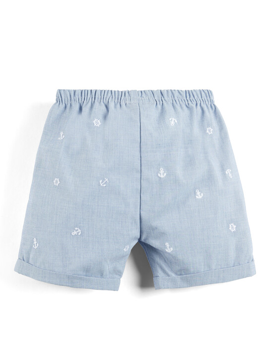 Polo Shirt and Embroidered Shorts - 2 Piece Set image number 4