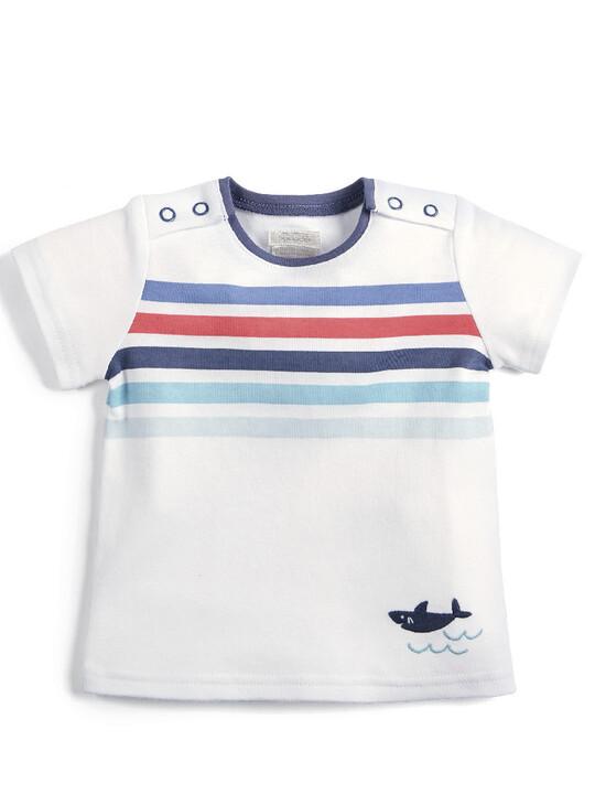 Multicoloured Stripe T-Shirt image number 1