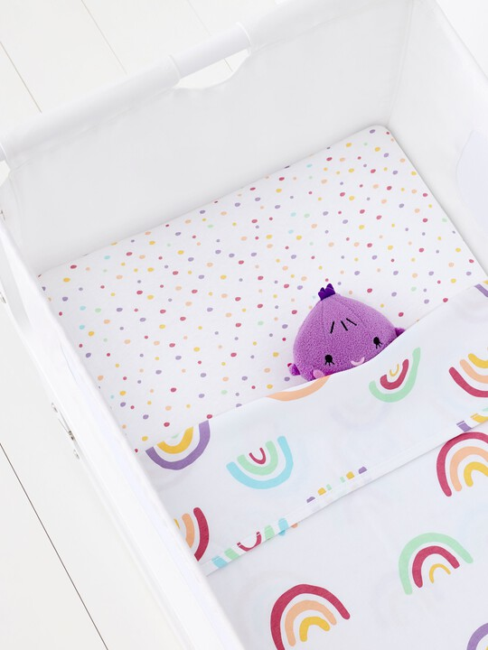 2 Pack Crib Fitted Sheets - Colour Rainbow image number 4