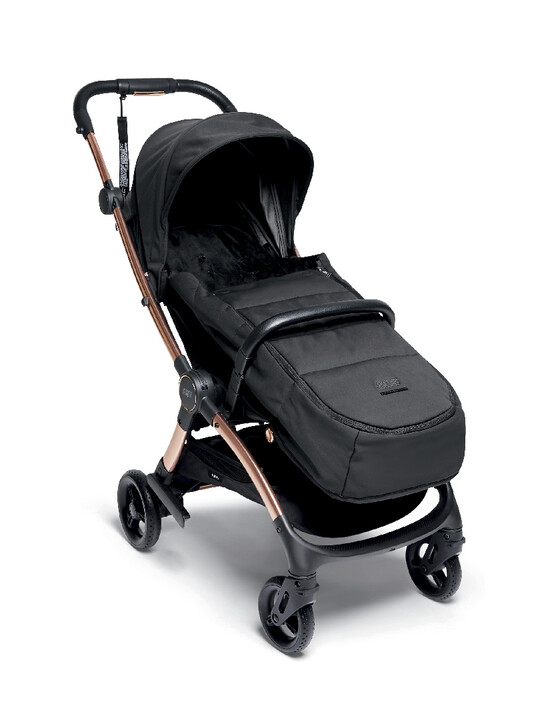 Airo Dusk with Rose Gold Frame Pushchair with Black Newborn Pack image number 4