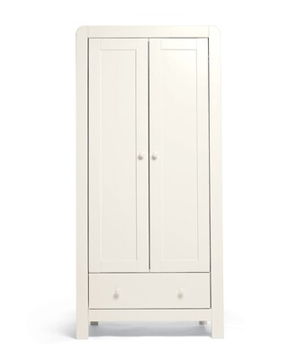 Dover 2 Door Nursery Wardrobe - White