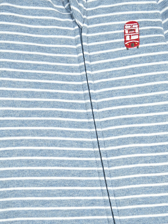 Striped Zipper All-in-One image number 3