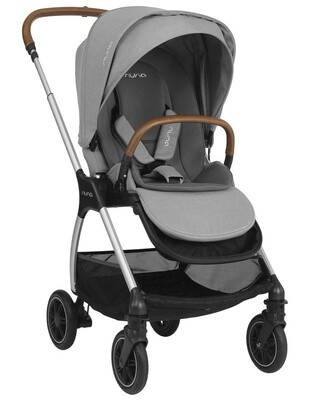 Nuna TRIV Baby Stroller with Rain Cover and Adapter - Frost