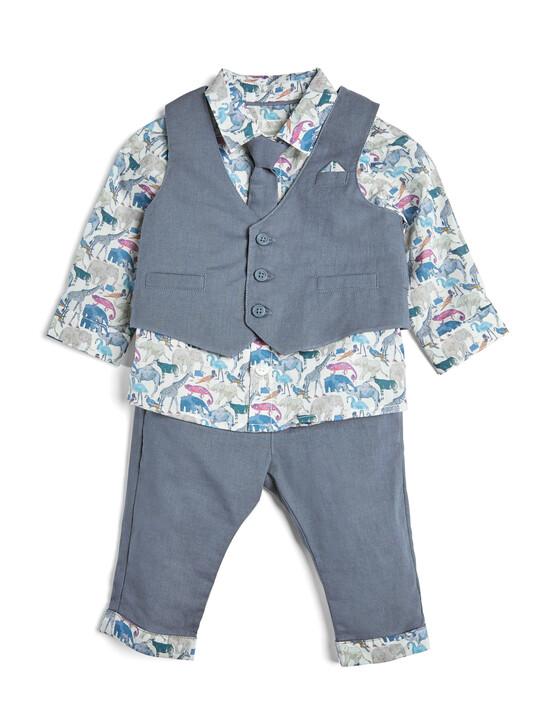 4 Piece Liberty Shirt & Waistcoat Set image number 1