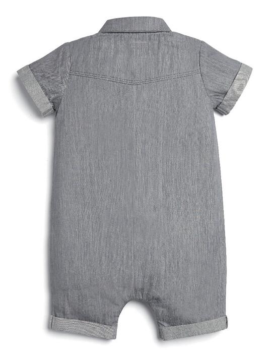 Grey Denim Romper image number 2