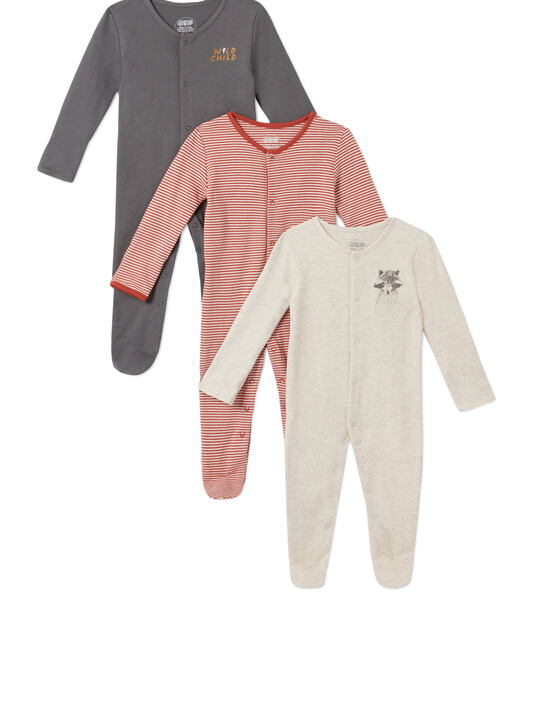 3Pack of  WILD Sleepsuits image number 1