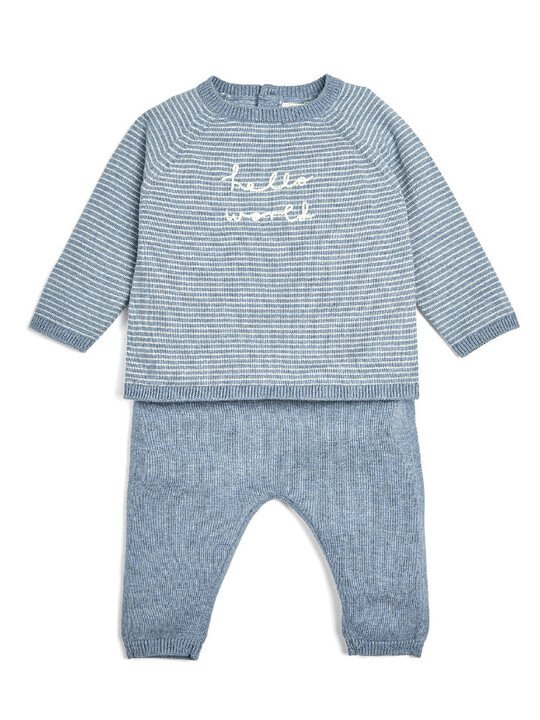 Blue Hello World Knitted Set - 2 Piece image number 1
