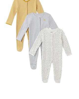 3Pack of  STRPE/SPT Sleepsuits