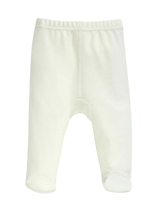 Merino Wool Leggings Cream- New Born image number 1