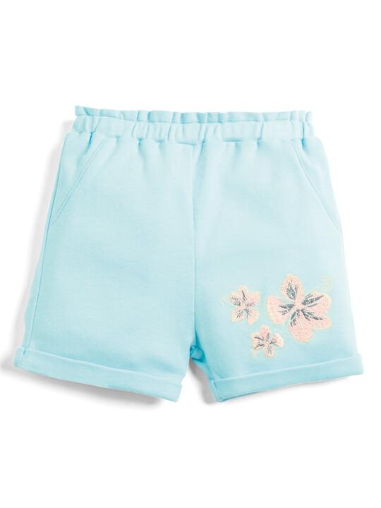 Embroidered Shorts - Aqua image number 1