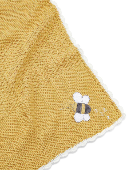 Knitted Blanket(70x90cm) - Bee Happy image number 3