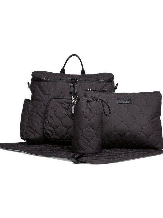 2 Way Satchel Style Changing Bag - Black image number 2