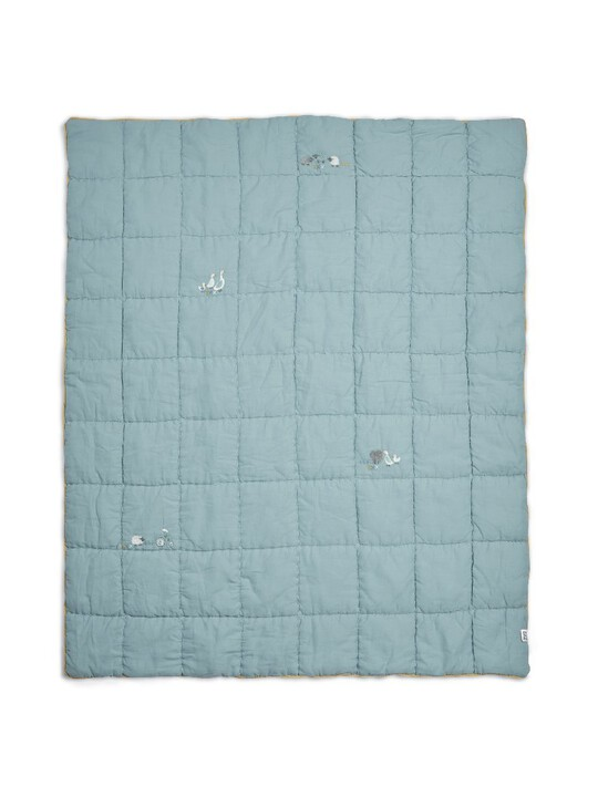 Welcome to the World Quilt - Cotbed/Cot - Blue image number 1