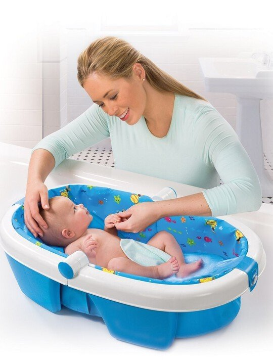 Newborn-to-toddler fold away baby bath -duck diver image number 3