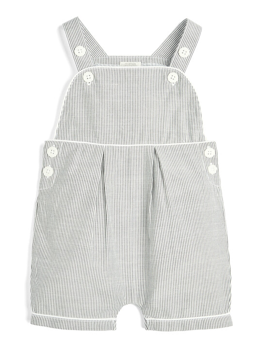 Striped Dungarees and T-Shirt - 2 Piece Set image number 4