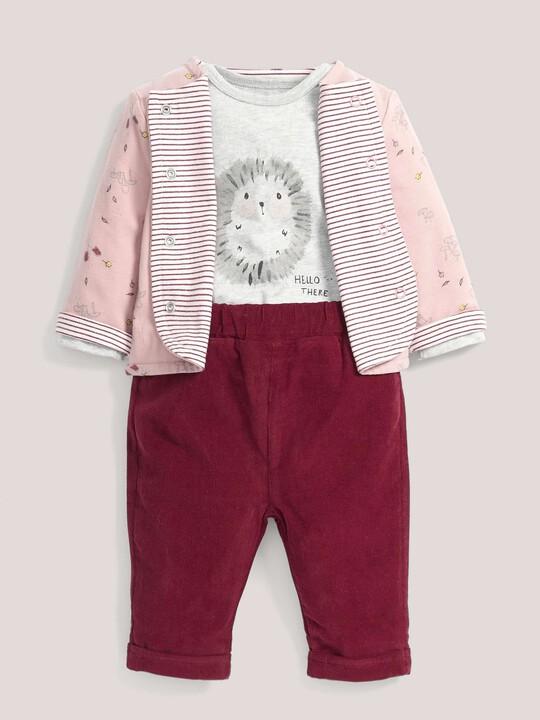 Jacket, Hedgehog Bodysuit & Joggers Set image number 1