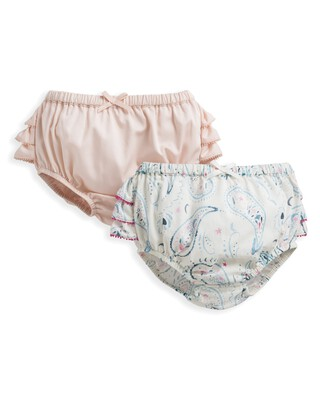 2 Pack Paisley Print Frill Knickers