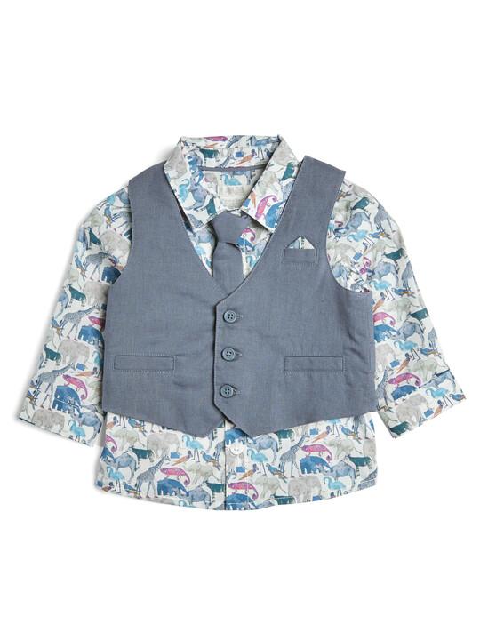 4 Piece Liberty Shirt & Waistcoat Set image number 3