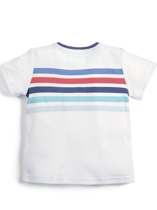 Multicoloured Stripe T-Shirt image number 2