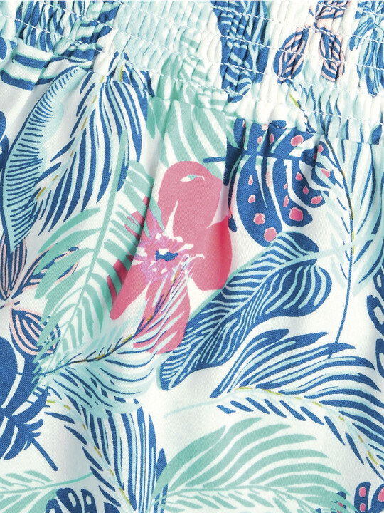 Tropical Print Frill Dress image number 2