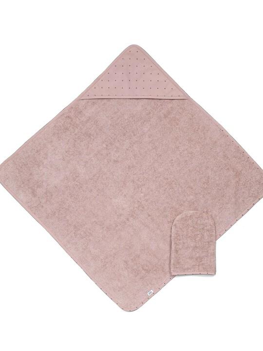 Hooded Towel & Mitt - Pink image number 1