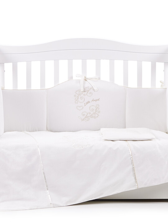 """Veres """"My Little Angel"""" Off White bedding set 6-in-1  image number 1"""