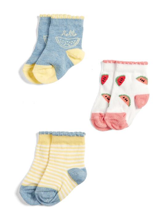 Watermelon Socks (3 Pack) image number 1