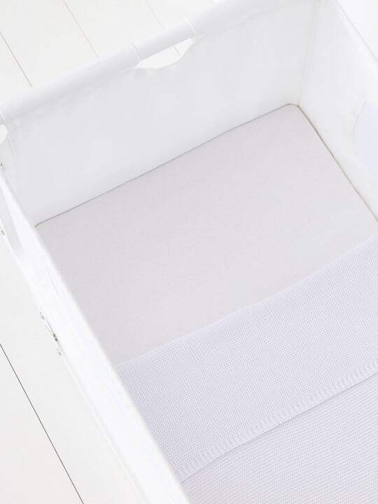 Snuz 3pc Crib Bedding Set – White image number 4