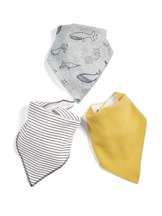 Whale Dribble Bibs - 3 Pack image number 1