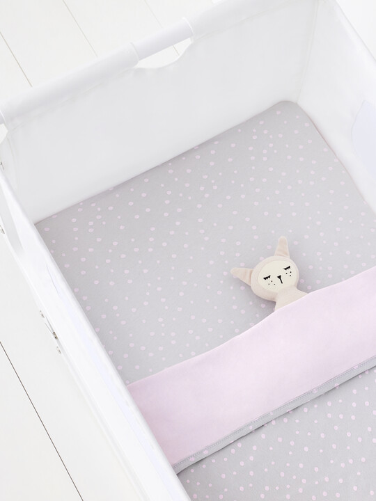 2 Pack Crib Fitted Sheets - Rose Spots image number 5