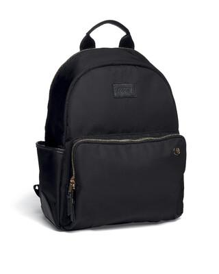 Rucksack Style Changing Bag with Bottle Holder - Black Nylon