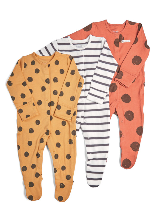3 Pack of Large Spot Sleepsuits image number 1