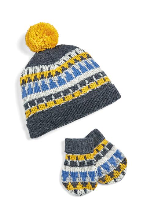 Fairisle Hat & Mitts image number 1