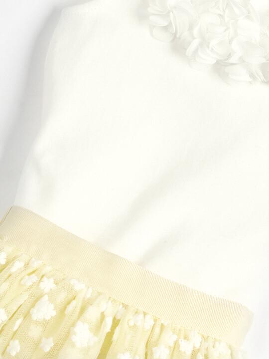 Flower Mesh Body Suit & Tutu - 2 Piece Set image number 3