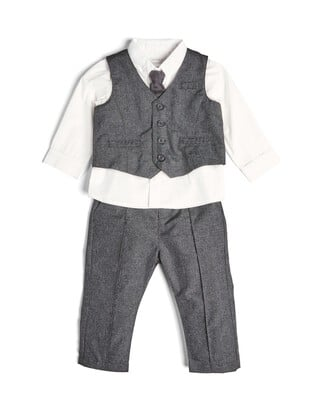 4 Piece Suit Set Grey