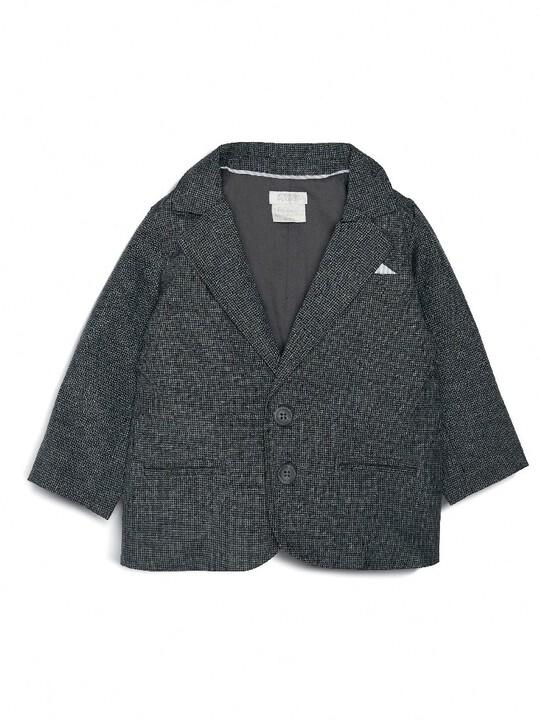 Woven Blazer Grey image number 1