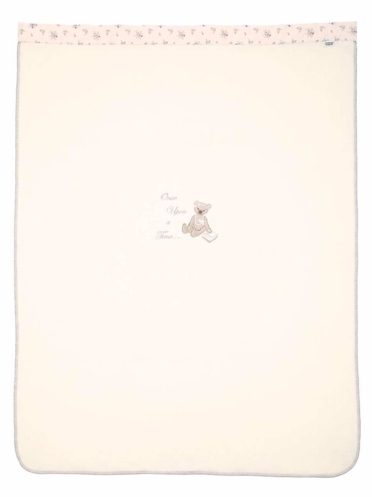 Once Upon A Time - Pink Large Embroidered Fleece Blanket (L: 160 x W: 120cm) image number 3