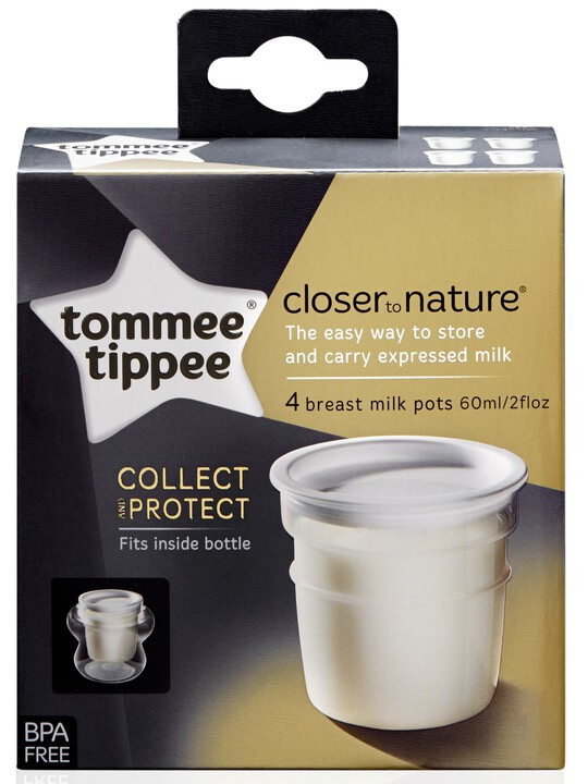 Tommee Tippee - Closer to Nature 4x Milk Storage Pots image number 2