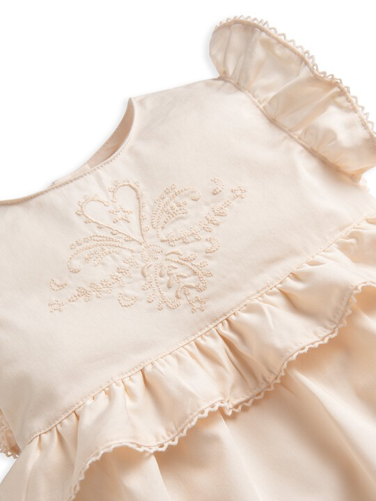 Embroidered Frill Romper image number 3