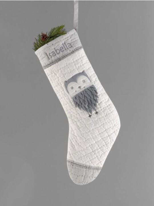Grey Owl Christmas Large Stocking image number 2