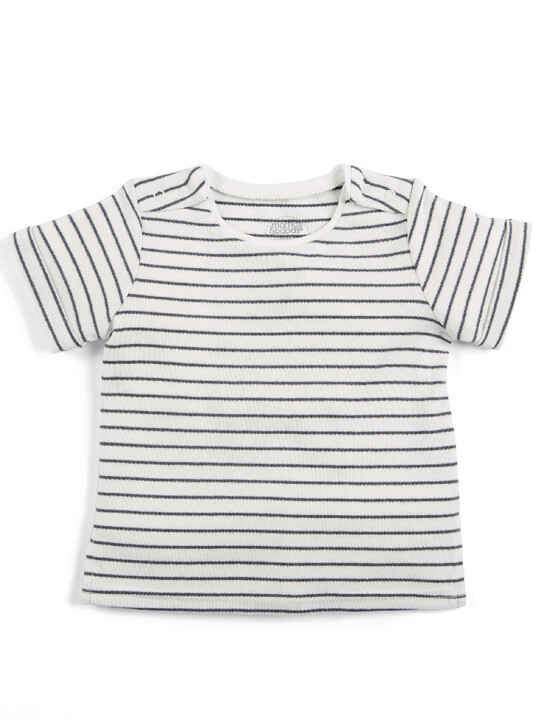 Linen Dungaree & T-Shirt Set image number 3